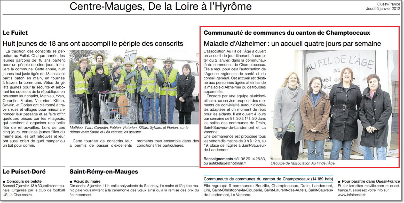 05/01/2012 - Ouest France